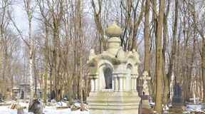 Novodevichyebegraafplaats in St. Petersburg royalty-vrije stock foto's