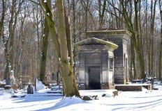 Novodevichyebegraafplaats in St. Petersburg stock foto