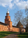 Novogorod citadel 2. The walls and towers of Novgorod citadel, XV century Stock Image
