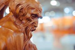 Novokuzneck 俄罗斯- 09 04 2018年:木雕塑 免版税库存照片