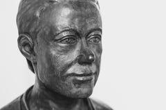 Novokuzneck, Rosja - 01 07 2018: brązowy popiersie mężczyzna w muzeum Obrazy Royalty Free
