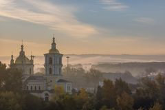 Novokuznetsk, Kemerovo region, Russian Federation - 09/21/2018:. Savior Transfiguration Cathedral royalty free stock image