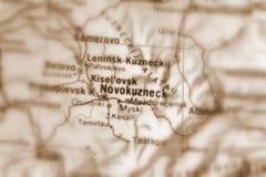 Novokuznetsk, una ciudad en Rusia imagen de archivo libre de regalías