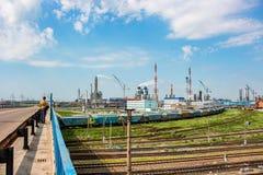 Novomoskovsk, Россия - июнь 2015: ` Azot ` химического завода стоковые изображения
