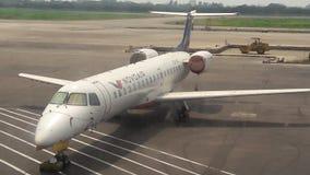 Novonair-Fluglinien Stockfotos