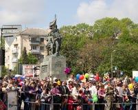 NOVOROSSIJSK, RUSSIA 9 MAGGIO 2015: La celebrazione di Victory Day On May 9 Fotografie Stock