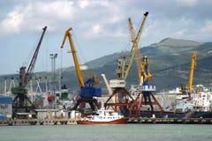novorossisk port 免版税库存照片