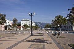 Novorossiysk. Chernyakhovsky street. The walking street in Novorossiysk between the Lenin street and sea beach Stock Photography