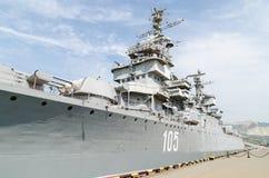 Novorossiysk. The cruiser Mikhail Kutuzov. Stock Photography