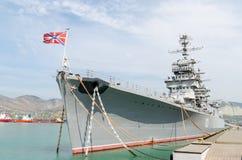 Novorossiysk De kruiser Mikhail Kutuzov stock afbeeldingen