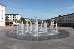 Novorossiysk. Fountain on Chernyakhovsky street. The walking street in Novorossiysk Stock Image
