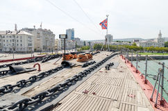 Novorossiysk La plate-forme du croiseur Mikhail Kutuzov Photo stock