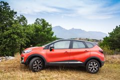 Subcompact crossover Renault Captur car stock photo