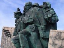 Novorossiysk, Russia ` Commemorativo di Malaya Zemlya del ` Soldati di cavalleria 4 febbraio 1943 Primo piano Città dell'eroe di  immagine stock libera da diritti