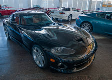 NOVOROSSIYSK, RUSSIA - JULY 19, 2009: Dodge Viper car at the exhibition royalty free stock photo