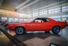 NOVOROSSIYSK, RUSSIA - JULY 19, 2009:  Plymouth Barracuda  at the car exhibition Royalty Free Stock Photos