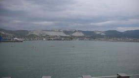 Novorossiysk Sea Port, Admiral Serebryakova Embankment. sea. Novorossiysk Sea Port, Admiral Serebryakova Embankment stock video