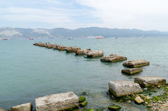 Novorossiysk. View from the Shore Promenade. Stock Images