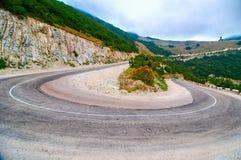 Novorossiysk 7 winds road. Novorossiysk 7 winds hairpin bend Royalty Free Stock Images