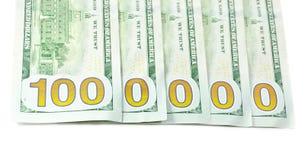 100 $ novos do dinheiro Imagens de Stock Royalty Free
