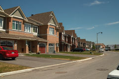 Novos domicilios Ottawa Ontário Canadá Imagens de Stock Royalty Free
