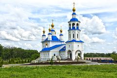 Novoshakhtinsk, Russia, Roston On Don. Church Of The Donskoy Icon Of The Mother Of God. Cathedral Sunny Summer Under Blue Sky Wit Royalty Free Stock Photo