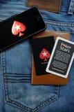 NOVOSIBIRSK, ΡΩΣΙΑ - 13 ΔΕΚΕΜΒΡΊΟΥ 2016: Το λογότυπο Pokerstars στο iphone Apple Στοκ Εικόνα