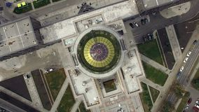 Novosibirsk, Akademgorodok,2015: Aerial view of University with a dome stock footage