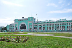 Novosibirsk-Bahnhof Stockfotos