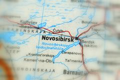 Novosibirsk, a city in Russia. Novosibirsk, a city in the Russian Federation selective focus royalty free stock photo