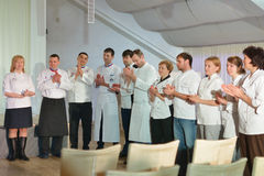 Novosibirsk Culinary World Cup team Stock Photos