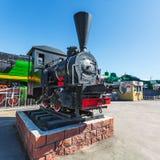 Novosibirsk museum av järnväg utrustning i Novosibirsk, Sibirien, Arkivbild