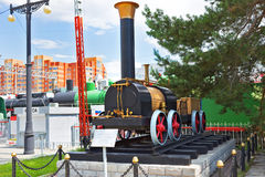The layout of the first Russian steam locomotive Cherepanov  18 Stock Image