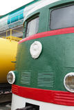 The shunting locomotive TE2 No. 289. Novosibirsk Museum of railway equipment, Siberia, Russia. Novosibirsk Museum of railway equipment in Novosibirsk, Siberia stock images