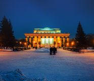 Novosibirsk Opera and Ballet Theatre in Russia Stock Images