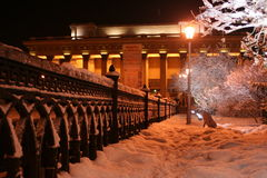 Novosibirsk opera theatre. In the winter Stock Images