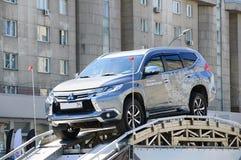 Novosibirsk 06 28 18 Provdrev bilen fotografering för bildbyråer
