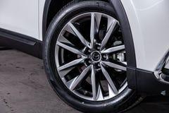 Novosibirsk, Rússia 28 de junho de 2019: Mazda CX-9 fotografia de stock