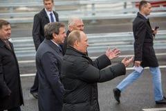 Novosibirsk, Rússia - 8 de outubro de 2014: Vladimir Vladimirovich Pu Fotos de Stock
