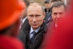 Novosibirsk, Rússia - 8 de outubro de 2014: Vladimir Vladimirovich Pu Imagens de Stock