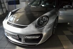 Novosibirsk, Rosja - 06 14 2018: Porsche 911 Obrazy Stock