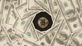 NOVOSIBIRSK, ROSJA: USA dolary wiruje wokoło bitcoin zbiory