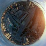 Novosibirsk, Rusia - 05 20 2018: Panorama esférico foto de archivo libre de regalías