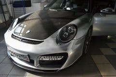 Novosibirsk, Rusia - 06 14 2018: Porsche 911 imagenes de archivo
