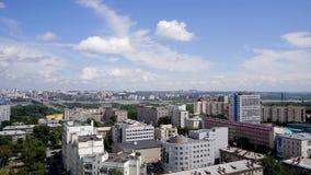 NOVOSIBIRSK, RUSIA - vista de la ciudad de Novosibirsk Timelapse 5 almacen de video