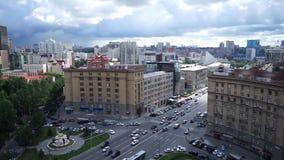 NOVOSIBIRSK, RUSIA - vista del centro de ciudad de Novosibirsk metrajes