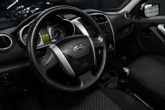 Novosibirsk, Rusland 11 Juni, 2019: Datsun op- royalty-vrije stock afbeelding