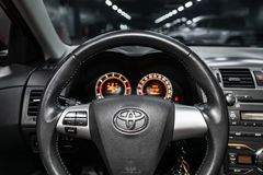 Novosibirsk, Rusland - Mei 31, 2019: Toyota Corolla royalty-vrije stock afbeeldingen