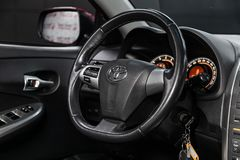 Novosibirsk, Rusland - Mei 31, 2019: Toyota Corolla royalty-vrije stock foto's