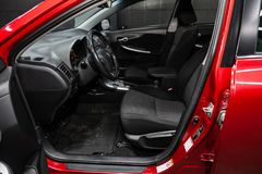 Novosibirsk, Rusland - Mei 31, 2019: Toyota Corolla stock fotografie